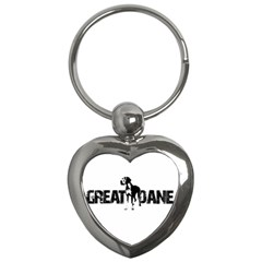 Great Dane Key Chains (heart)  by Valentinaart