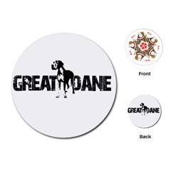 Great Dane Playing Cards (round)  by Valentinaart