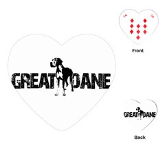 Great Dane Playing Cards (heart)  by Valentinaart