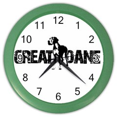Great Dane Color Wall Clocks by Valentinaart