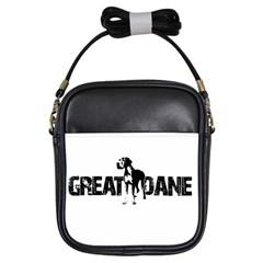 Great Dane Girls Sling Bags by Valentinaart