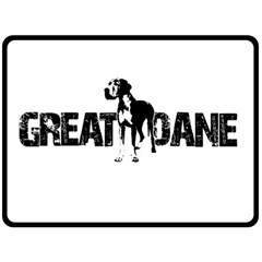 Great Dane Fleece Blanket (large)  by Valentinaart
