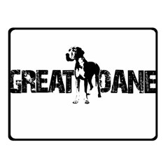 Great Dane Fleece Blanket (small) by Valentinaart