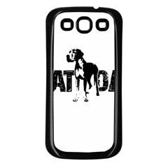 Great Dane Samsung Galaxy S3 Back Case (black) by Valentinaart