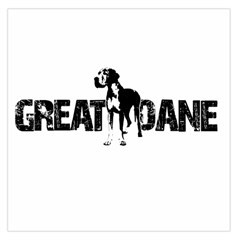 Great Dane Large Satin Scarf (square) by Valentinaart