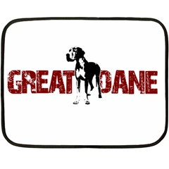 Great Dane Fleece Blanket (mini) by Valentinaart