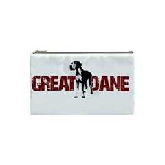 Great Dane Cosmetic Bag (small)  by Valentinaart