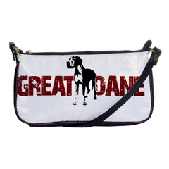 Great Dane Shoulder Clutch Bags by Valentinaart