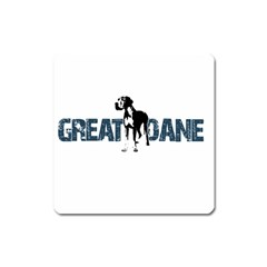Great Dane Square Magnet by Valentinaart