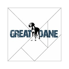 Great Dane Acrylic Tangram Puzzle (6  X 6 ) by Valentinaart