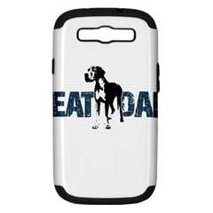 Great Dane Samsung Galaxy S Iii Hardshell Case (pc+silicone) by Valentinaart