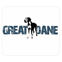 Great Dane Double Sided Flano Blanket (small)