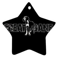 Great Dane Ornament (star) by Valentinaart