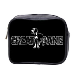 Great Dane Mini Toiletries Bag 2 Side by Valentinaart