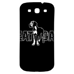 Great Dane Samsung Galaxy S3 S Iii Classic Hardshell Back Case by Valentinaart