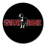Great Dane Round Mousepads