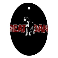Great Dane Ornament (oval) by Valentinaart