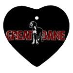 Great Dane Ornament (Heart)