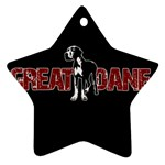 Great Dane Ornament (Star)