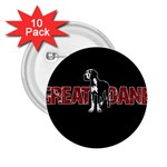 Great Dane 2.25  Buttons (10 pack)