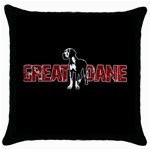 Great Dane Throw Pillow Case (Black)