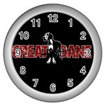 Great Dane Wall Clocks (Silver)