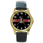 Great Dane Round Gold Metal Watch