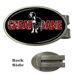 Great Dane Money Clips (Oval)