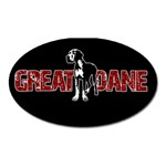 Great Dane Oval Magnet