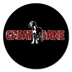 Great Dane Magnet 5  (Round)