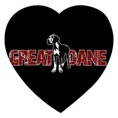 Great Dane Jigsaw Puzzle (heart) by Valentinaart