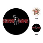 Great Dane Playing Cards (Round)