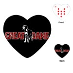 Great Dane Playing Cards (Heart)