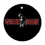 Great Dane Round Ornament (Two Sides)