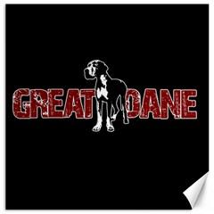 Great Dane Canvas 12  x 12