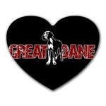 Great Dane Heart Mousepads