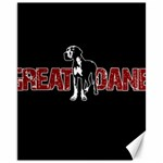 Great Dane Canvas 11  x 14