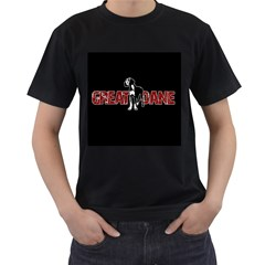 Great Dane Men s T-Shirt (Black)