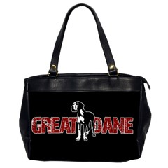 Great Dane Office Handbags (2 Sides)  by Valentinaart