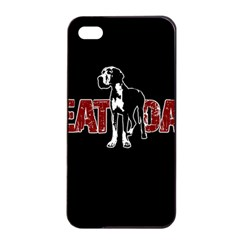 Great Dane Apple Iphone 4/4s Seamless Case (black) by Valentinaart