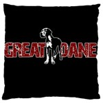 Great Dane Large Cushion Case (One Side)