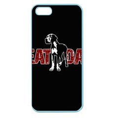 Great Dane Apple Seamless Iphone 5 Case (color) by Valentinaart