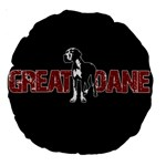 Great Dane Large 18  Premium Round Cushions