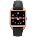 Great Dane Rose Gold Leather Watch