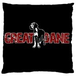 Great Dane Large Flano Cushion Case (One Side)