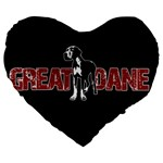 Great Dane Large 19  Premium Flano Heart Shape Cushions