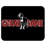 Great Dane Double Sided Flano Blanket (Medium)