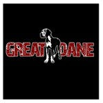 Great Dane Large Satin Scarf (Square)