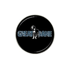 Great Dane Hat Clip Ball Marker by Valentinaart