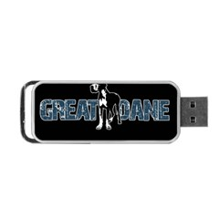 Great Dane Portable Usb Flash (two Sides) by Valentinaart